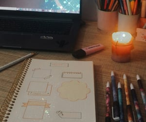 college, journaling, and light image