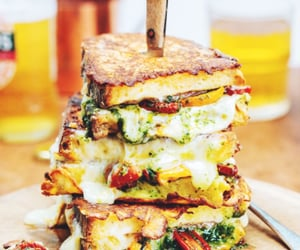 cheese, sandwich, and food image