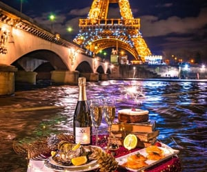 dinner, france, and holiday image
