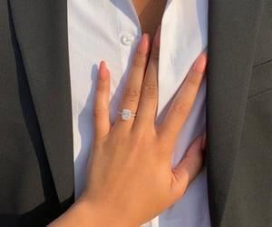 nails, ring, and love image
