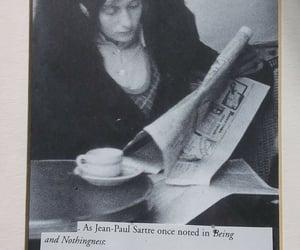 newspaper, paris, and sartre image