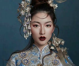 blue, chinese, and girl image