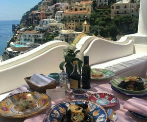 dinner, food, and positano image