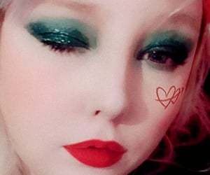 beauty, makeup, and wink image