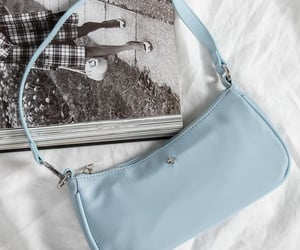 aesthetic, blue, and bag image