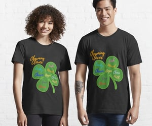 clover, green shirt, and lucky image