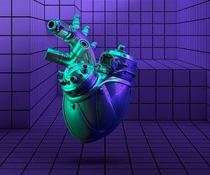 3d, steampunk, and cybercore image