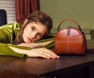 brown bag, vintage bag, and handbag image