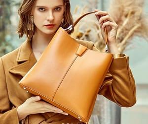 handbag, leather, and square bag image
