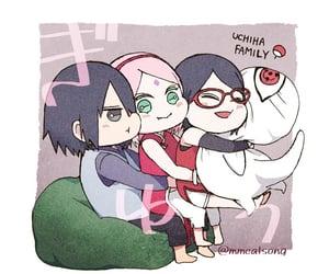 akatsuki, sakura, and sasuke uchiha image