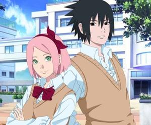 naruto, sasusaku, and sakura haruno image