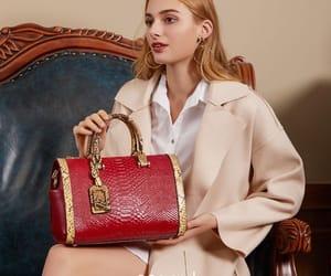 handbag, shoulder bag, and leather bag image