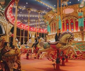 carousel, kids, and photo image