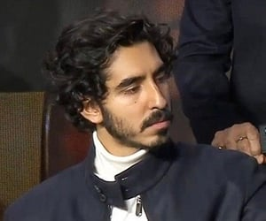 aesthetic, curly hair, and Dev Patel image