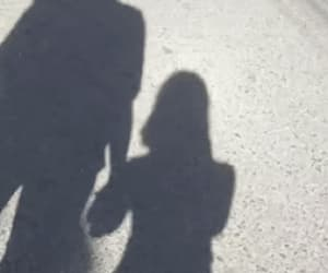 aesthetic, couple, and silhouette image