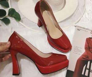 elegant, stiletto heels, and patent leather image