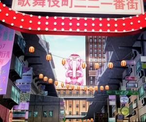 anime, pink, and kabukicho image