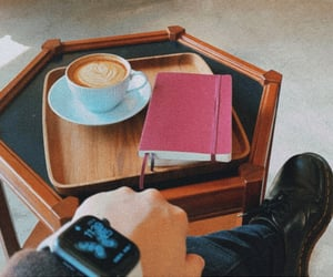 books, coffee, and comfortable image