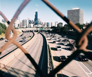 chicago, tower, and highway image