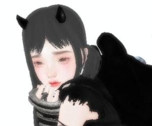 3d, imvu, and goth image