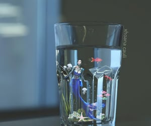 fish, glass, and red fish image