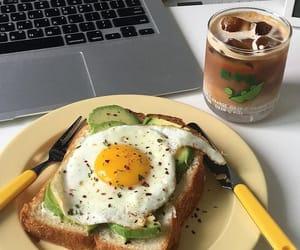 food, breakfast, and avocado image