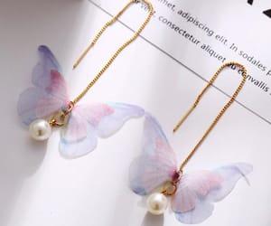 earrings, fashion jewelry, and butterfly earrings image