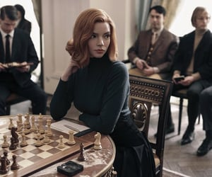 thequeensgambit, chess, and netflix image