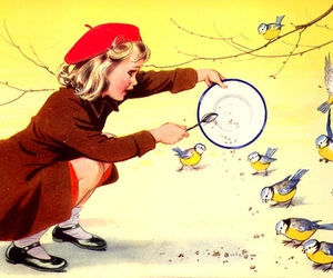 beret, kindness, and birds image
