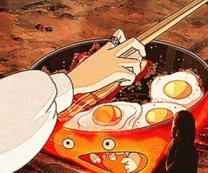 anime, bacon, and howl's moving castle image