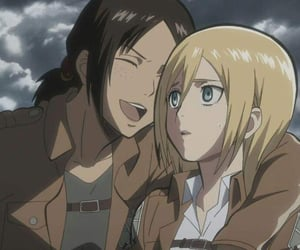 anime, ship, and attack on titan image