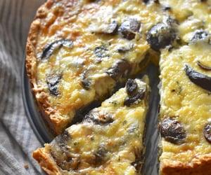 cheese, cheesy, and mushroom image