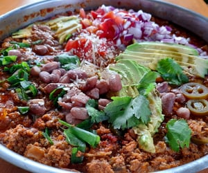 mexican, chili, and meal image