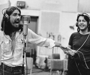 george harrison, music, and Paul McCartney image