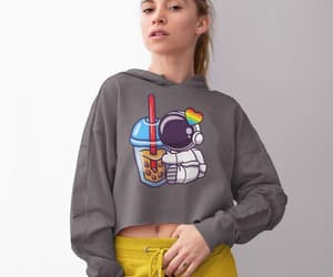 etsy, hooded crop top, and workout crop top image