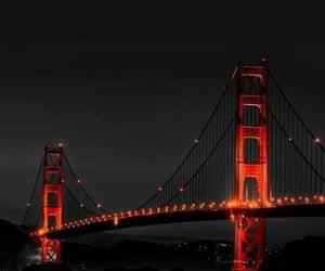 background, black, and bridge image