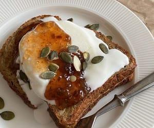 breakfast, toast, and food image