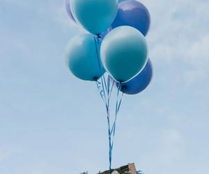 balloons and blue image