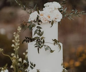 cake, wedding, and green image