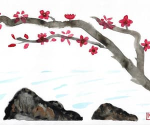 home decor, etsy, and cherry blossom tree image