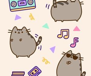 gif, pusheen cat, and cute image