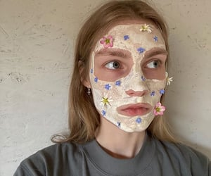 face, face mask, and hair image