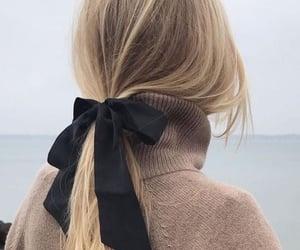 blonde, ponytail, and black image