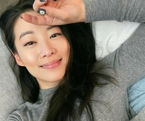 black hair and arden cho image