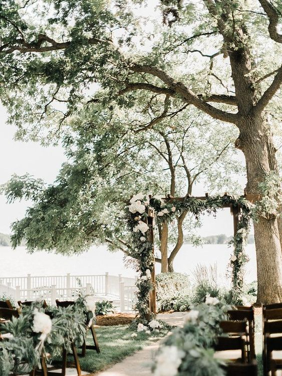 wedding, decoration, and forest image