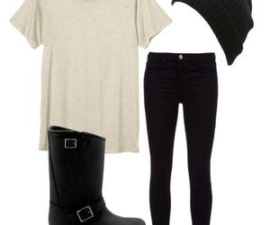 black, boots, and cap image