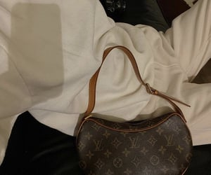 sweater, everyday look, and louis vuitton bag image