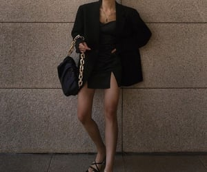 black, blazer, and blogger image