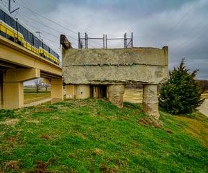 abandoned bridge, abandoned, and urban decay image