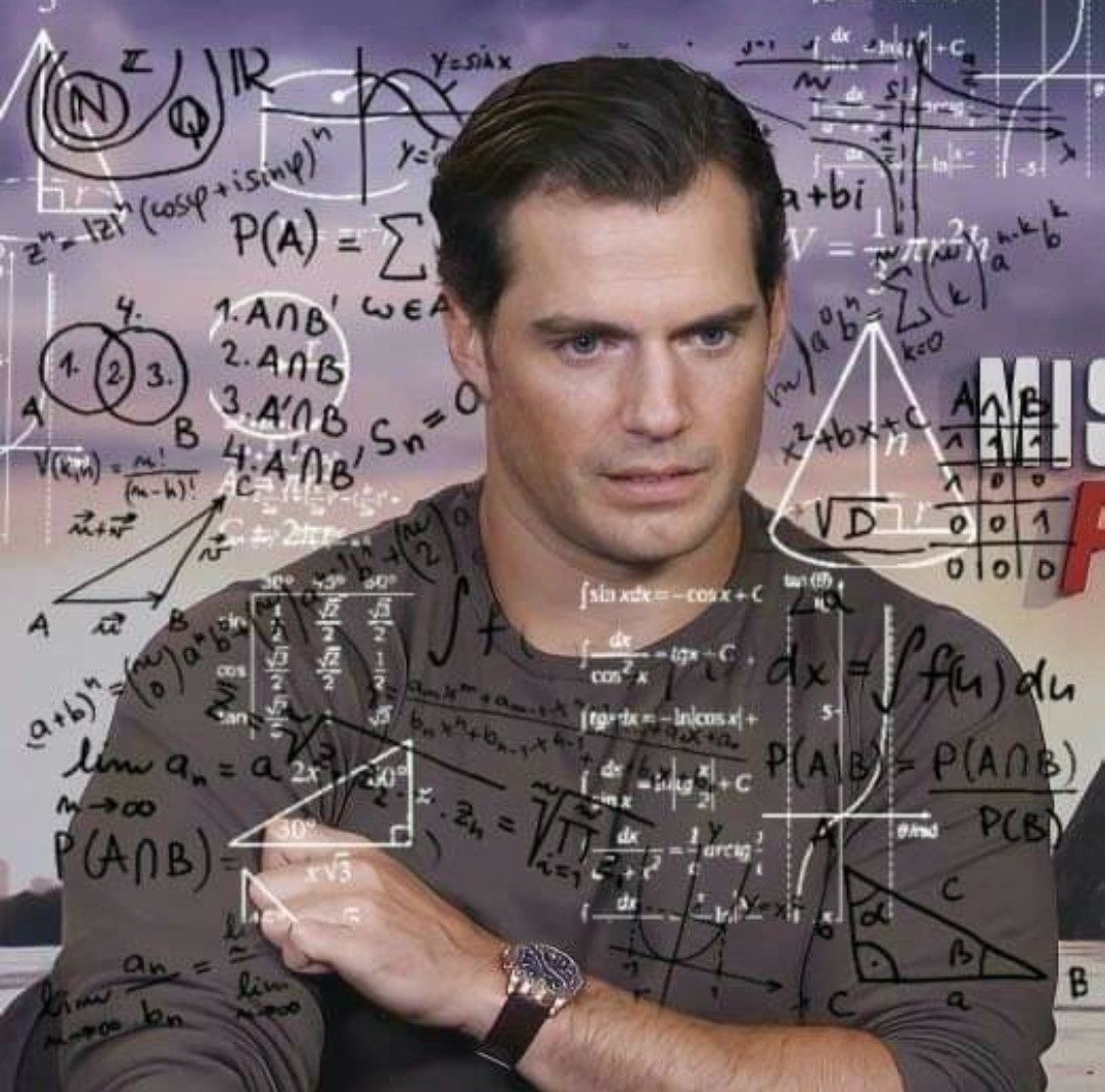 funny, Henry Cavill, and math image